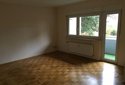 Leere & saubere Wohnung nach einer Haushaltsauflösung durch RÜMPLIO.